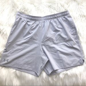 NWT Under Armour Mens Loose Gray Running Shorts XL